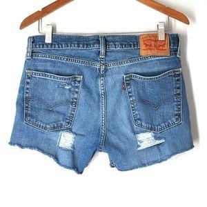 Levi's high Rise Festival Denim Jean shorts 31